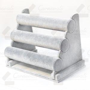 Exhibidores de Velour gris